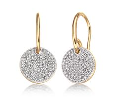Ava Diamond Pave Earrings in 18ct Gold Plated Vermeil on Sterling Silver with Diamond