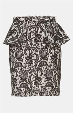 Topshop Lace Peplum Pencil Skirt #Nordstrom