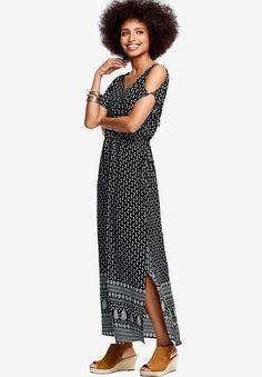 7d6f9bb42adc1 Border Print Maxi Dress by Ellos - Women s Plus Size Clothing