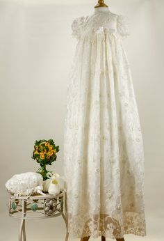 Little Darlings 'Louisa' G9012 Lace Overlay Heirloom Gown Set