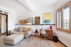 """An """"Industrial Modern"""" Renovation of a Barcelona Apartment House Tour: A Modern Industrial Remodeled Barcelona Apartment Living Room Decor, Living Spaces, Dining Room, Barcelona Apartment, Casa Real, Simple Furniture, Apartment Furniture, Modern Industrial, Furniture Makeover"""