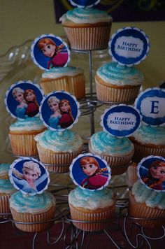 Frozen themed cupcake toppers