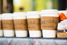 customised wedding-day coffee sleeves