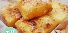 Frytoura Traditional Sweet from Zakynthos Island - Easy and yummy, daily homemade recipes! Greek recipes, Quick recipes, Easy sweets and others. Easy Sweets, Easy Snacks, Greek Sweets, Snack Recipes, Dessert Recipes, Greek Cooking, Greek Dishes, Delicious Deserts, Pastry Recipes