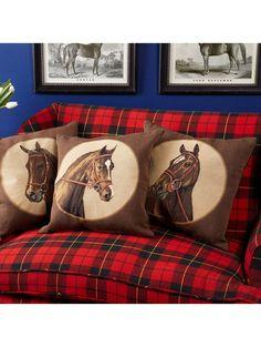 Equestrian Pillows:  Horse Portraits