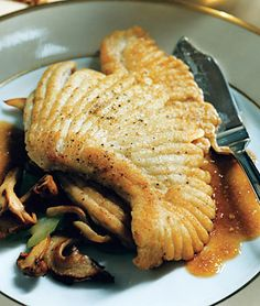 Skate with Wild Mushrooms in Pearl Sauce Recipe on Yummly