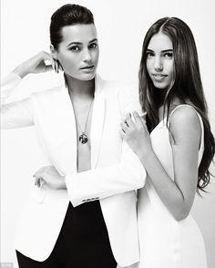 Model family: Yasmin Le Bon and Amber Le Bon share the same striking features