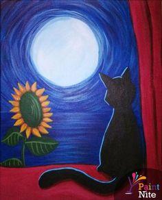 Black Cat In Moonlight