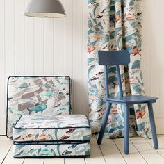 'Deep Sea' fabric designed by Emily Sutton for St Jude's Fabrics & Papers