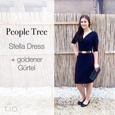 """Faire Mode muss nicht öko sein! Das beweist dieses Outfit mit """"Stella"""" von People Tree und einem goldenen Gürtel!"""