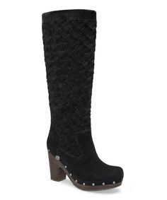 Black Arroyo Weave Clog Tall Boot
