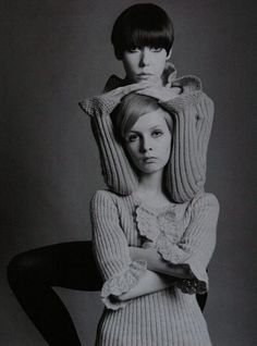 Peggy Moffitt with Twiggy