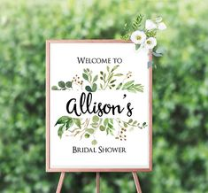 Printable Welcome Sign 8x10 Bridal Shower