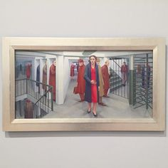 """The Subway George Tooker 1950. The Whitney Museum New York City. . Tempera on composition board. . """"Where We Are: Selections from the Whitney's Collection 1900-1960"""" The #exhibition traces how #artists have approached the relationships institutions and activities that #shape our lives."""" - . . . - #GeorgeTooker #Tooker #painter #americanpainter #americanpainting #modernart #subway #painting #temperapainting #dailyroutine #metroboulotdodo #metro #newyork #redcoat #modernpainting #realism…"""