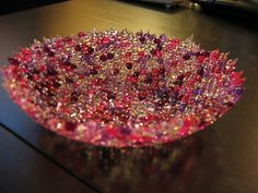 Melted bead bowl, love this!