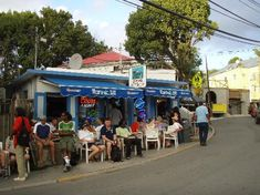 A favorite spot to hang at happy hour :o) Woody's Seafood - St. John, USVI