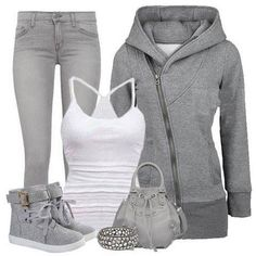 """Grey - Another """"I'm just chillin"""" outfit"""