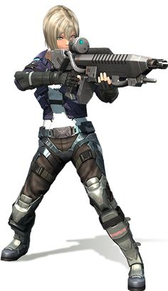 """Irina - Xenoblade Chronicles X; Irina belongs to the private military organization known as """"BLADE"""". She worked for Elma when she was a part of the United Government Special Operations Unit, which is otherwise known as """"Doll Corps"""". Though she has a strong-minded and frank personality, Irina has a strong sense of duty to protect the people of Planet Mira. Monolith says of the character: """"The BLADE member with an overflowing sense of duty""""."""
