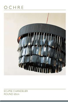 Horsehair and horn chandelier from Ochre...love it.