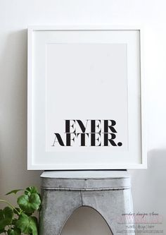 Ever After Typography Print Fashion by wordsdesigndownload, £4.00  #UOonCampus #UOContest