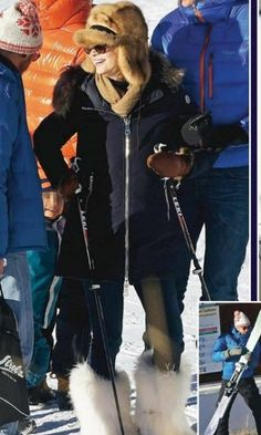 Pierre Casiraghi and his wife Beatrice Borromeo Casiraghi were seen on their winter holiday at the Gstaad Ski Center in Southwest Switzerland.