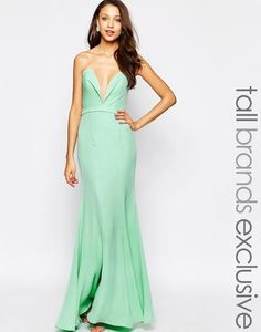 Jarlo Tall Helena Sweetheart Neckline Bandeau Maxi Dress at asos.com #dress #women #covetme