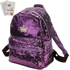 New Trending Backpacks: Donalworld Women Sequin Backpack Bling Paillette Glitter School Shoulder Handbags Purple. Donalworld Women Sequin Backpack Bling Paillette Glitter School Shoulder Handbags Purple   Special Offer: $21.99      144 Reviews BrandDonalworld Features Main Material: sequin and PU leather Conditon: Donalworld brand new Appro. Size: Length 30cm*15cm*36cm please allow 1-3 CM size...