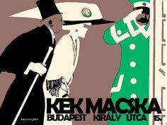 Itt+szeretkezett+a+saturészeg+Bismarck,+költötte+el+országának+vagyonát+Milán,+és+párbajoztak+az+ifjak+Melanie+miatt.  A+Király+utcai+egykori+Kék+Macska.+(Grafika:+Rolf+Niczky,+Falanszter.blog.hu)