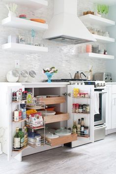 Utilize cabinet doors to get the most organization.
