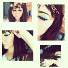 halloween makeup - diy; cleopatra - makeup