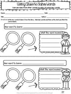 Freebie!  This resource includes two Common Core lessons for teaching guided reading groups at a Level I.  It also includes 2 printable graphic organizers and 2 'I Can' statement cards with question prompts to use during guided reading.