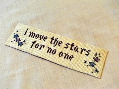 David Bowie Labyrinth Cross Stitch Book Mark Labyrinth Movie Quote