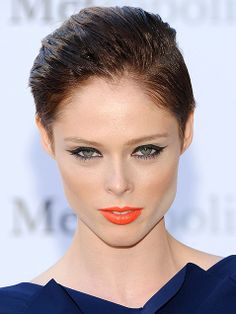As if a pixie wasn't bold enough, model Coco Rocha dares to rock slicked-back, wet-look hair.