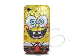 SpongeBob Bling Swarovski Crystal Phone Case   #Swarovski  http://www.dsstyles.com/iphone-5-cases/swarovski-series-spongebob-swarovski-crystal-phone-case.html?src=pinterest