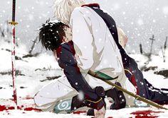 Sakata Gintoki and Takasugi Shinsuke