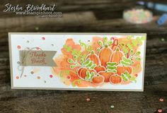 Pick A Pumpkin Bundle turns out to be perfect for the Global Design Project 105 Color Challenge. See details on my blog, Stesha Bloodhart, Stampin' Hoot!
