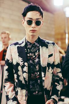 Dries Van Noten Menswear SS14 Reflection, contrast and hypnotic floral prints