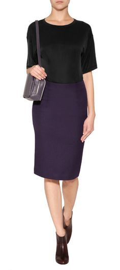 Sleek and streamlined, this wool pencil skirt from Maison Martin Margiela is a workwear must #Stylebop