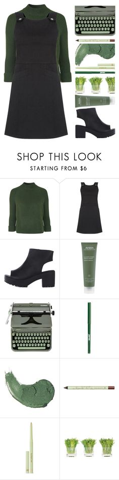 """""""Juniper"""" by hevsyblue2 ❤ liked on Polyvore featuring Topshop, Oasis, Aveda, Hermès, jane, Pixi, NDI, denim, GREEN and polyvoreeditorial"""
