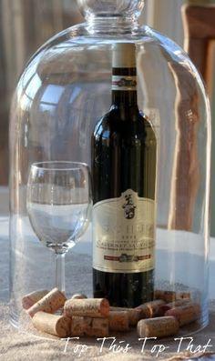 Wine anyone? Imagine the oooooooohs and aaaaaaaahs at your dinner party if you serve wine using beautiful glass bell jars.