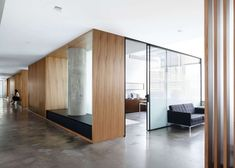 Architizer office wood glass