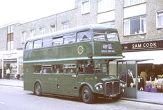 London Transport (Green Line): from Addlestone Garage in Station Road, Addlestone on Route Rt Bus, Routemaster, Double Decker Bus, London Pictures, Bus Coach, London Bus, London Transport, Green Park, Vintage London