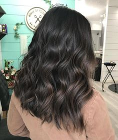 Long Dark Brown Shag with Textured Bangs - 20 Stunning Long Dark Brown Hair Cuts and Styles - The Trending Hairstyle Brown Hair Cuts, Brown Hair Looks, Golden Brown Hair, Light Brown Hair, Dark Hair, Dark Brown Hair With Low Lights, Cool Tone Brown Hair, Red Blonde Hair, Brown Hair Balayage