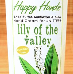 Lily of the Valley Hand Cream for Knitters - 8oz Jumbo HAPPY HANDS Shea Butter Hand Lotion Paraben-Free