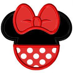 Digi Dolls Miss Mouse Head Silhouette 4 Applique Embroidery Applique Design 3x3 4x4 5x7 6x10 (email delivery). $4.00, via Etsy.
