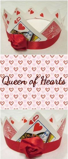Queen of Hearts Crown created for Marissa Meyer's Heartless Mad Hatter Design Contest Super Hero shirts, Gadgets Diy Halloween, Holidays Halloween, Halloween Costumes, Tutu Costumes, Mad Hatter Party, Mad Hatter Tea, Mad Hatters, Mad Hatter Diy Costume, Cards Diy