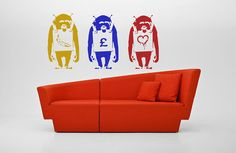 Banksy Laugh Now Monkey reusable STENCIL for home wall interior decoration / wall interior decor