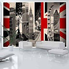 Papier peint Symbols of London Artgeist Star Wallpaper, Embossed Wallpaper, Wallpaper Online, Wall Wallpaper, Background 3d, London Skyline, Mural Wall Art, Architecture, Home Art