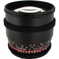 Rokinon 85mm T1.5 Cine Lens for Canon EF Bundle, Purple