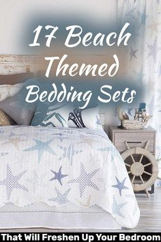 Looking for beach themed bedding sets? Here are 17 premium bedding sets that will go perfectly with your bed. Beach Theme Bedding, Beach Bedding Sets, Beach Room, Minimalist Home Decor, Beach House Decor, Beach Themes, My Dream Home, Bed Pillows, Bedroom Decor